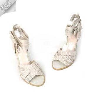 Buy Mango Ribbon Strap Tie-Ankle Sandals 1022969629