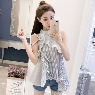 Sleeveless Striped Top 1067939177