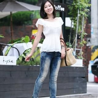 Buy ZOAQT Washed Skinny Jeans 1023028804
