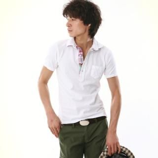 Buy moscod Plaid-Trim Short-Sleeve Polo Shirt 1022815484