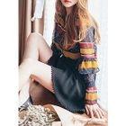 Lace-Trim A-Line Mini Skirt 1596