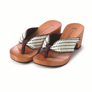 Picture of Mizutori High-heeled Wood Sandals 1004546606 (Sandals, Mizutori Shoes, Japan Shoes, Womens Shoes, Womens Sandals)