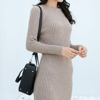 Rib Knit Sheath Dress 1063426945