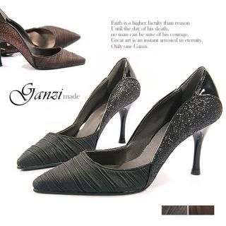 Buy ganzi Point Toe Lam  Side Stilettos 1021086297