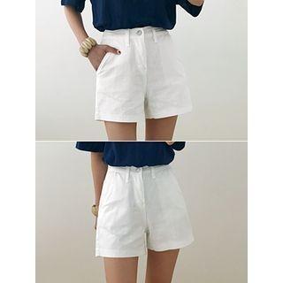 Pocket-Side Cotton Shorts 1061056394