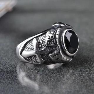 Titanium Steel Cross Ring