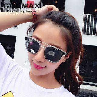 Double Bar Mirrored Sunglasses 1050169922
