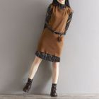 Set: Printed Dress + Sweater Vest 1596
