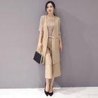Image of Set: Sleeveless Longline Vest + Culottes