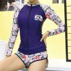 Set: Floral Print Rashguard + Swim Shorts 1596