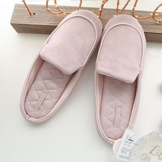Image of Faux Leather Home Slippers