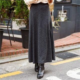 Band-Waist Ribbed Knit Maxi Skirt 1054416955