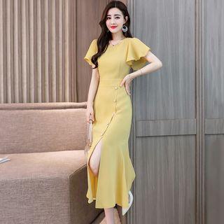 Romantica Short-Sleeve Buttoned Dress