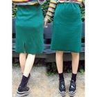 Band-Waist Ribbed Skirt 1596