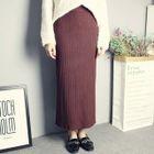 Maxi Rib Knit Skirt 1596