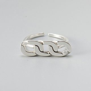 Sterling | Silver | Chain | Open | Ring