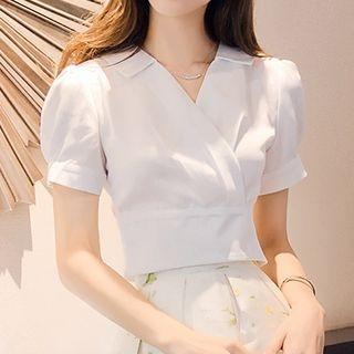 Short-Sleeve V-Neck blouse 1060890368