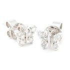18K White Gold Butterfly Earrings with Diamonds от YesStyle.com INT
