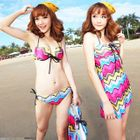 Set: Chevron Bikini + Cover-Up 1596