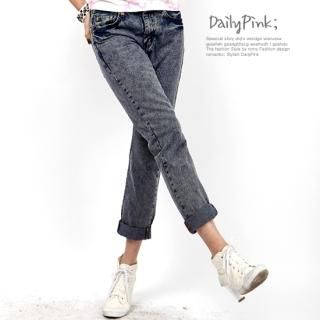 Buy Daily Pink Washed Jeans 1022546453