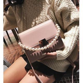 Faux Pearl Detail Crossbody Bag