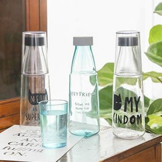 Print Water Bottle with Cup 1064595395
