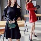 Cutout Shoulder A-Line Dress 1596