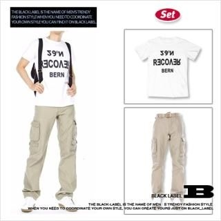 Buy Style Impact Set: Printed Tee + Cargo Pants + Belt 1022398290