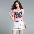 Set: Butterfly Short-Sleeve Top + Shorts 1596