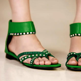 Buy Kvoll Rhinestone Ankle-Strap Sandals 1022979481