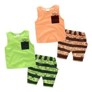 Kids Set: Print Tank Top + Shorts 1050718984