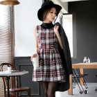 Plaid Boucl  Zippered Dress 1596