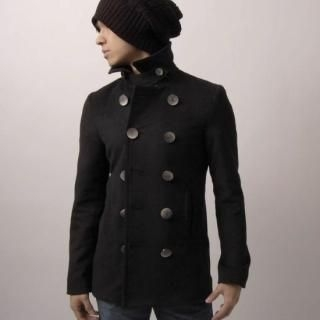Buy Green Banana Double Breasted Wool Coat 1022193894