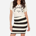 Striped Pencil Skirt 1596