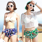 Set: Frilled Printed Bikini + Cover-up 1596