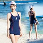 Lattice Panel 2-piece Swimsuit 1596