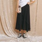 Ruffle Chiffon Long Skirt 1596