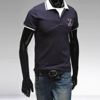 Picture of Style YOURS Embroidered Short-Sleeve Polo T-Shirt 1022492984 (Style YOURS, Mens Tees, South Korea)