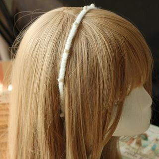 Image of Beaded Hair Band As Shown in Figure - One Size