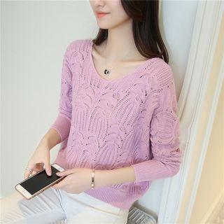 Rib Knit Pullover 1060107597