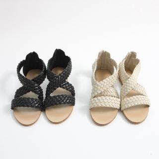Buy KENZI Faux-Leather Woven Sandals 1022879627