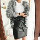 Open-Front Furry Cardigan 1596