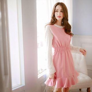 Lace Panel Knit Dress