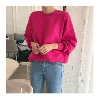 Colored Drop-Shoulder Sweatshirt 1058316645