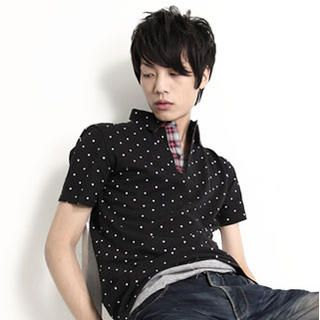 Picture of SERUSH Polka Dot Polo Shirt 1022803370 (SERUSH, Mens Tees, Taiwan)