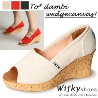 Buy Wifky Open-Toe Wedge Pumps 1022850428