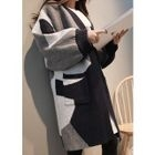 Color-Block Open-Front Cardigan 1596