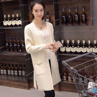 Ribbed Long Cardigan 1049735593