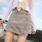 Layered Plaid Skirt 1596