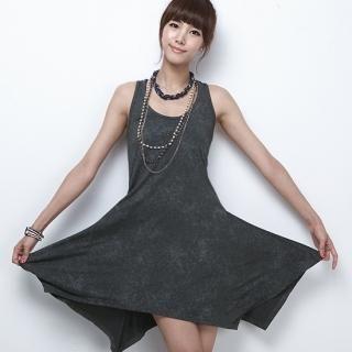 Buy MoDN Washed Sleeveless Asymmetric Hem Dress 1023041117